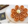 お花のような可愛いお餅ワッフル!「4MANO CAFFÉ 民生店」の画像