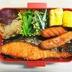 鮭弁当(*^▽^*)今日の自分弁当♪