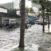 昨日は洪水だった。