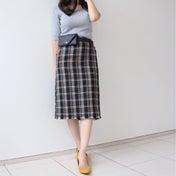 【タイトスカートで着痩せ効果◎】ツイード生地でトレンド意識♪