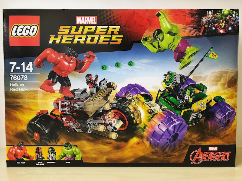 lego superheroes 76078 hulk vs red hulk hiroのおもちゃ箱