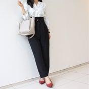 【着やせ効果絶大の組み合わせ♡】通勤パンツコーデ!