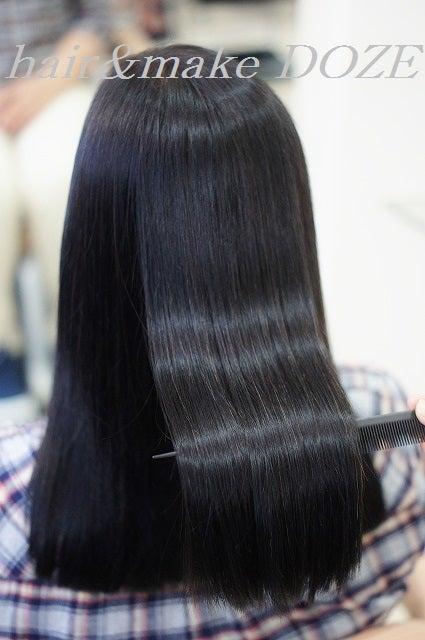 そしてプレミアム髪質改善トリートメント+縮毛矯正施術後!