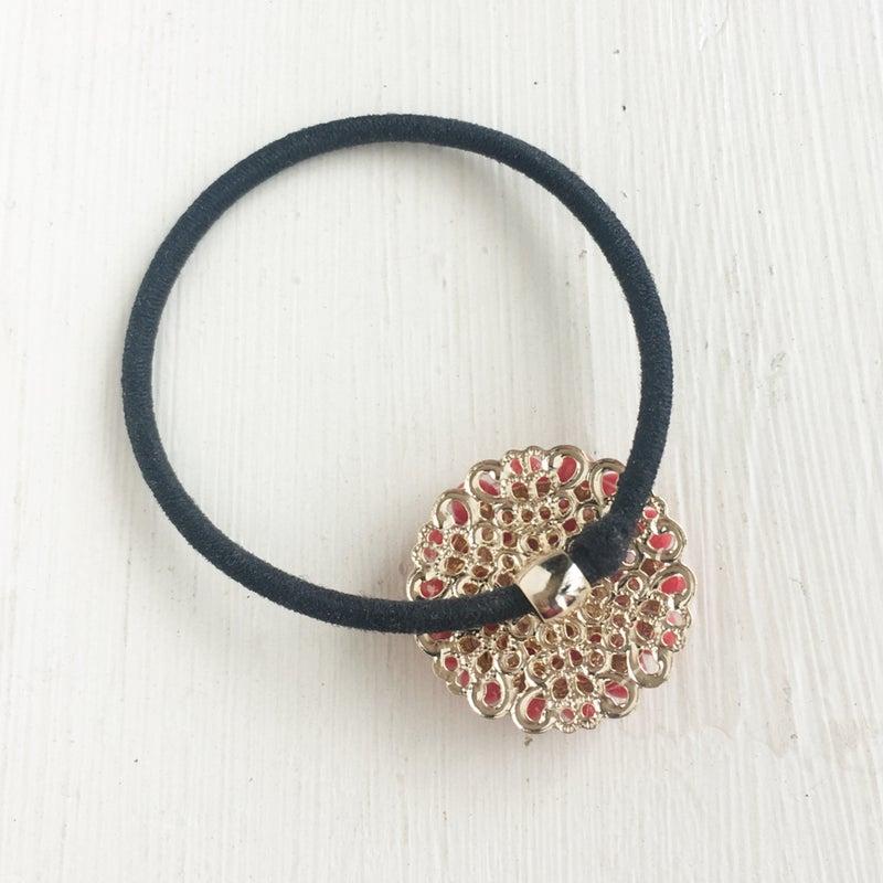 赤珊瑚のヘアゴム
