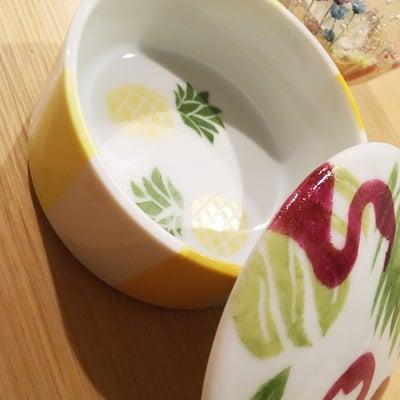 フラミンゴとパイナップルで可愛い蓋物♡の記事に添付されている画像