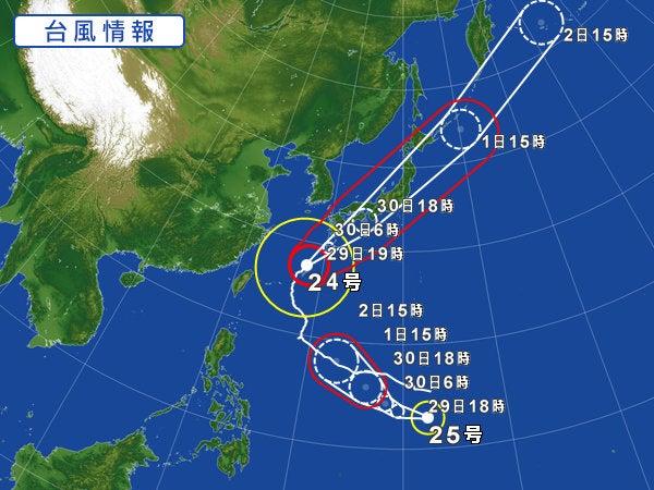 「台風24号、25号」の画像検索結果