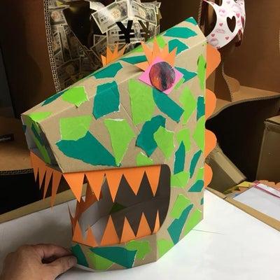 ダンボールかぶりもの!恐竜怪獣・シマウマ!の記事に添付されている画像
