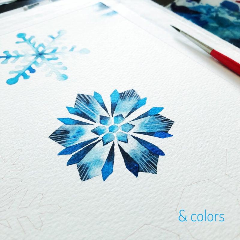 雪 の 結晶 イラスト