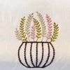 イギリスから2週間かけて届いた海外輸入 刺繍生地★麻リネン素材 フレンチカントリーの画像