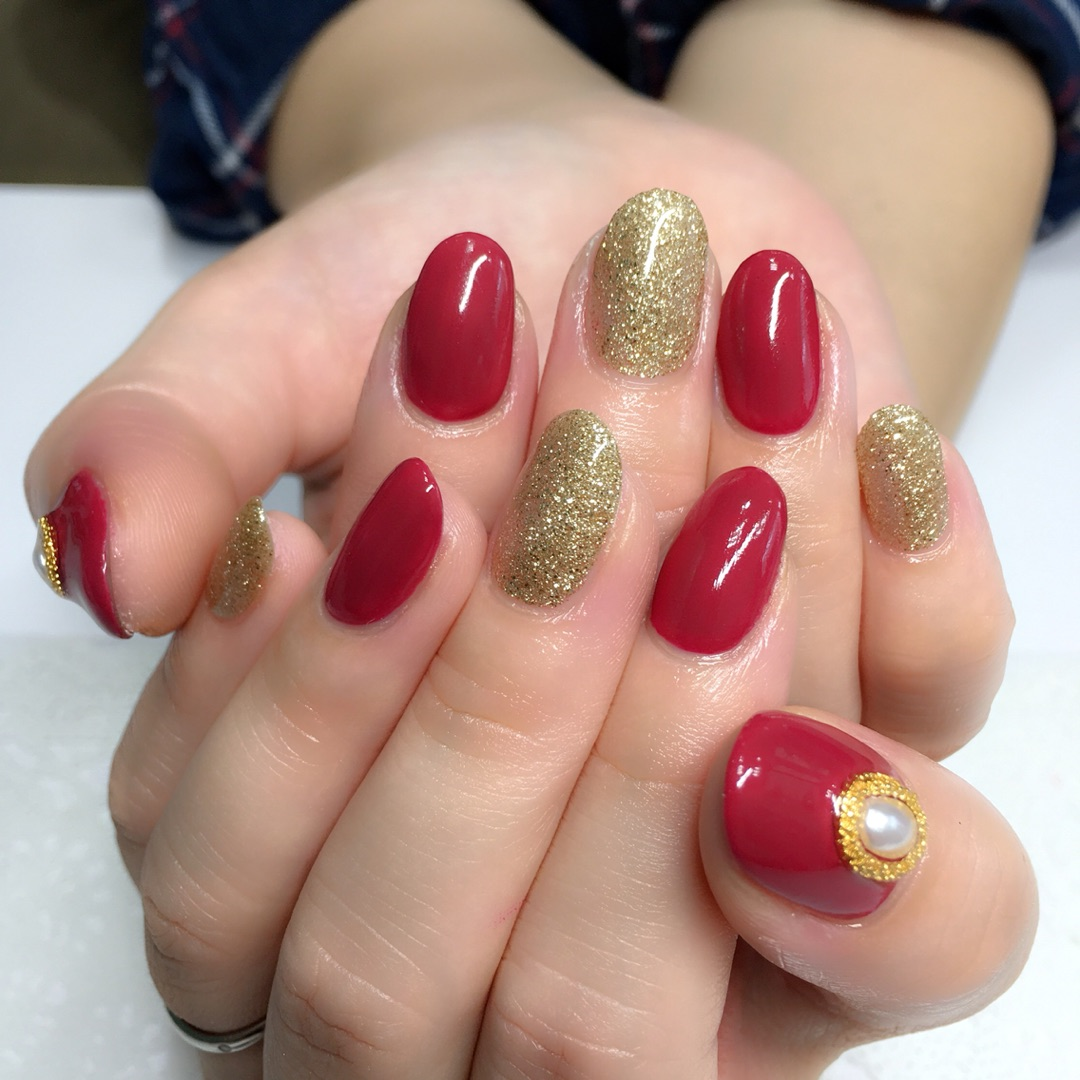 ★秋のRed nail★