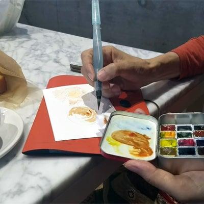 【水彩】カフェスケッチ ブルーボトルコーヒー 清澄白河にての記事に添付されている画像
