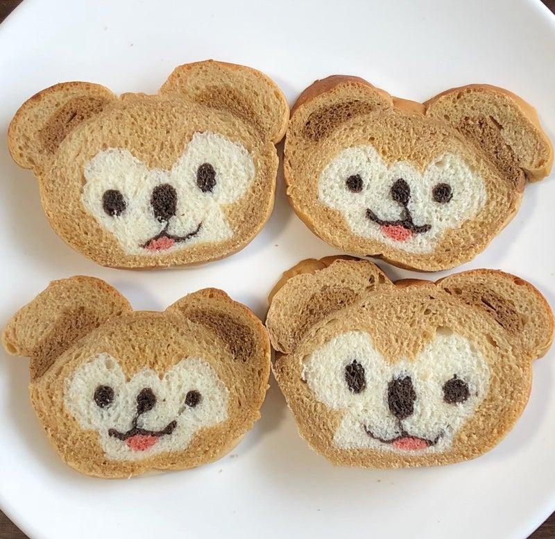 ダッフィーのイラストパン Izumiのディズニー大好き