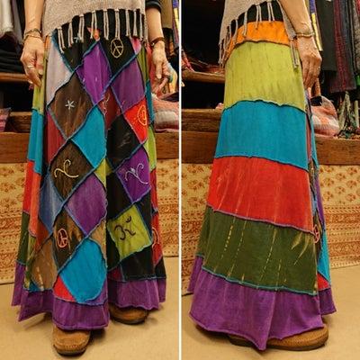 パッチワークロングスカート♪の記事に添付されている画像