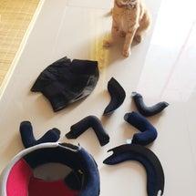 ヘルメットを自分で洗ってみた!