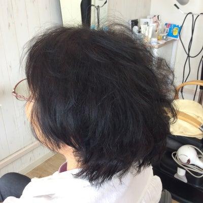 クセ毛が収まるキュビズムカットの記事に添付されている画像