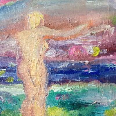 夜明け*油絵半抽象画*象徴絵画*希望~の記事に添付されている画像