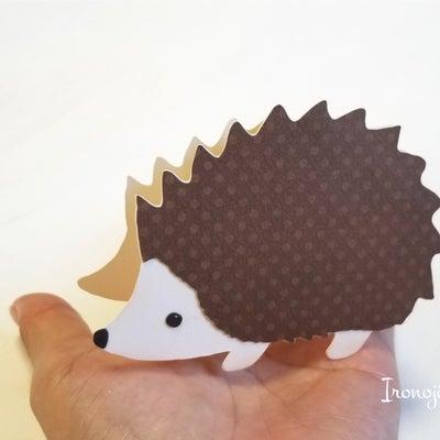 ハリネズミのカード作りの記事に添付されている画像