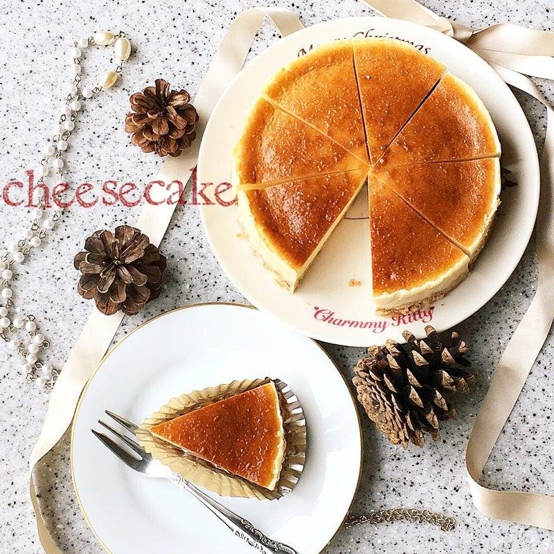 生クリーム不要!順番に混ぜて焼くだけのベイクドチーズケーキ♡