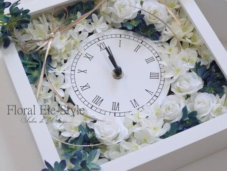 オーダーいただいた爽やかな花時計♪