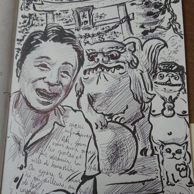 フランス人漫画家のイラストの記事に添付されている画像
