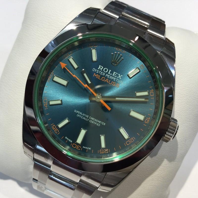 wholesale dealer 04421 c468c ロレックス ミルガウス 116400GV Zブルー文字盤 新品入荷中です ...