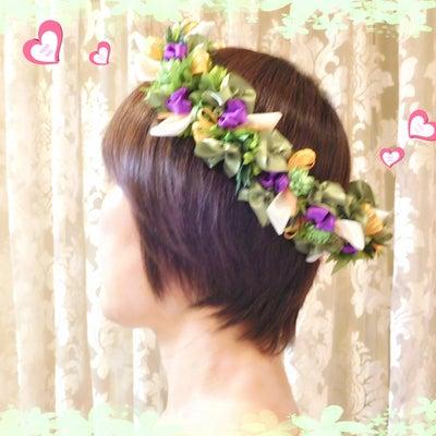 リボンで作る♪ハク(花冠)|りぼんで作る花冠HAKU 北品川・御殿山のリボンレイの記事に添付されている画像
