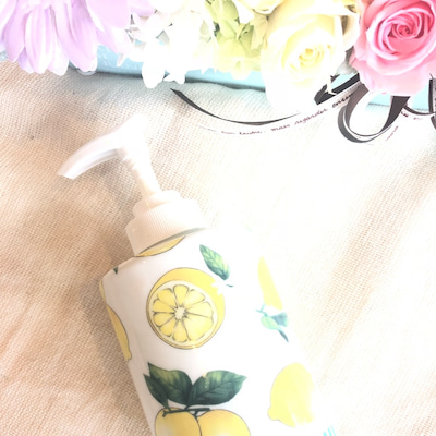 レモン転写紙でソープディスペンサーの記事に添付されている画像