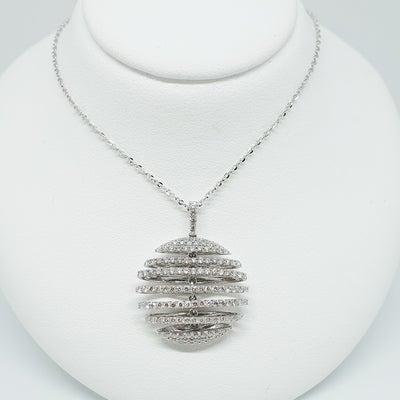 ウェーブするマイクロパヴェのダイヤモンドペンダントの記事に添付されている画像