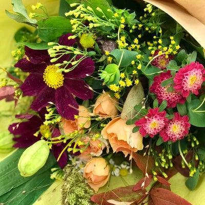 秋色シャンペトルブーケレッスンの記事に添付されている画像