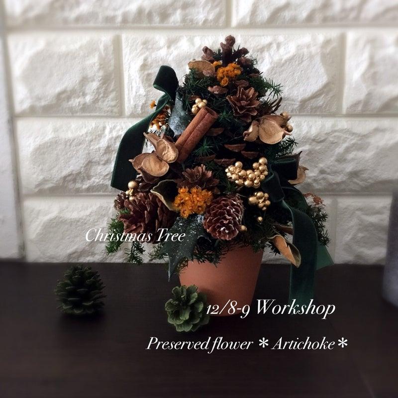 クリスマスツリー プリザーブドフラワー 三軒茶屋