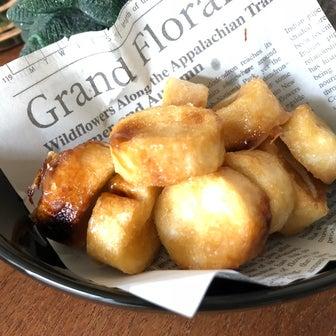 オーブンで作るより美味しい!♡レンジで1分半『塩キャラメルお麩ラスク』