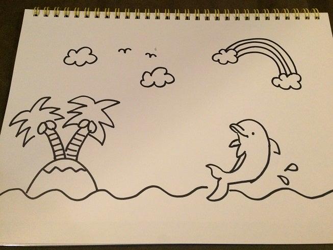 かわいいイルカのイラストを簡単に描くコツ By ドルフィン
