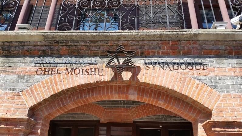 上海でミサに参加したりユダヤ難...