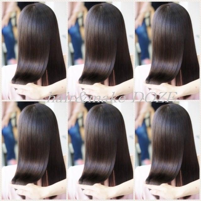 これが、とぅるんとぅるんの髪質改善プレミアムトリートメントカラーです!