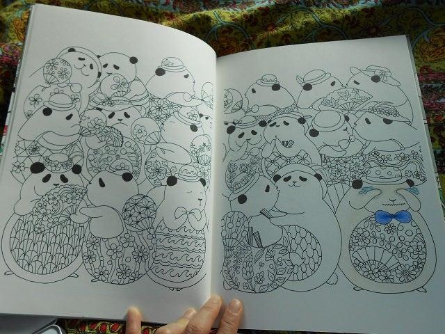 20匹のパンダ塗り絵中盤 Adie Ya Kotosachanのブログ