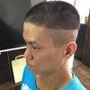 オシャレ坊主 男の髪型の画像