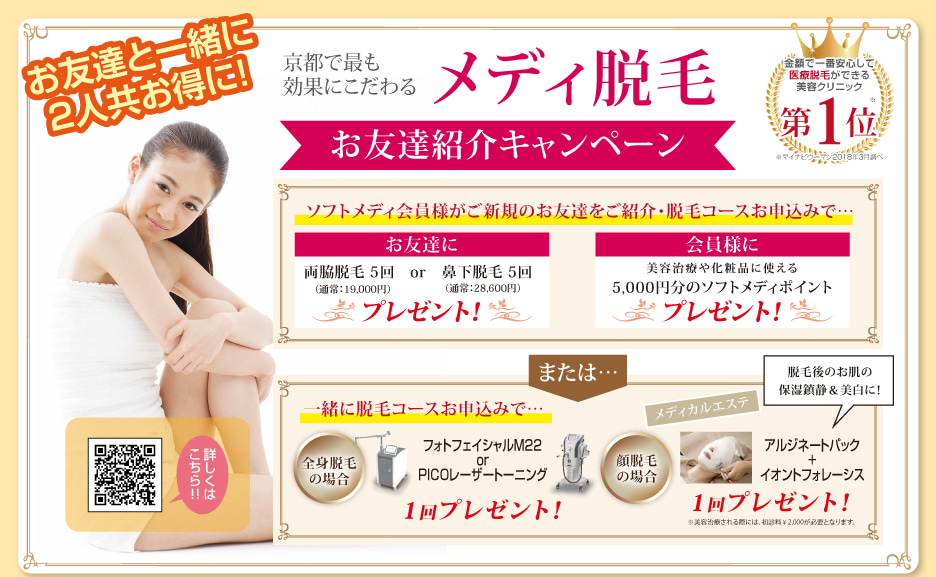 医療脱毛京都人気キャンペーン
