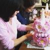 お花のマカロンタワーの画像