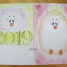 【大人向け手作り教室】パステルアートで来年の干支を可愛く描きました♪の記事より