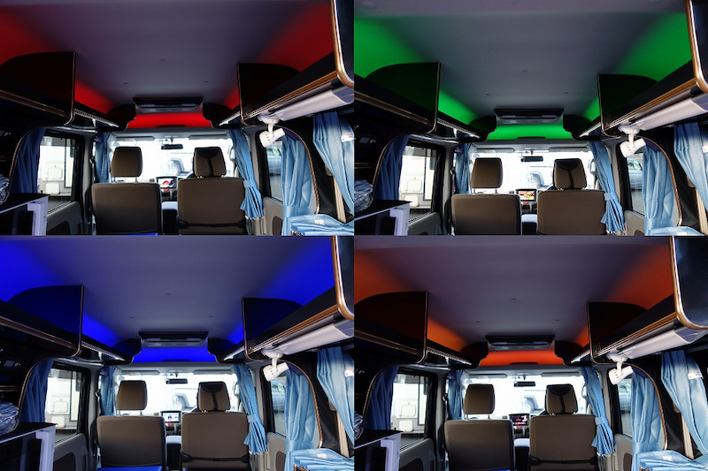 軽キャンパー ドリームミニ オプション 車内LEDイルミネーション