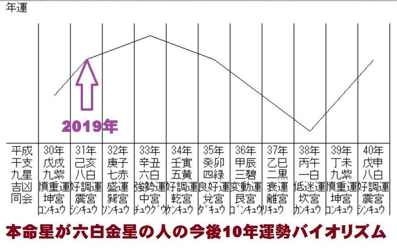 六白金星グラフ