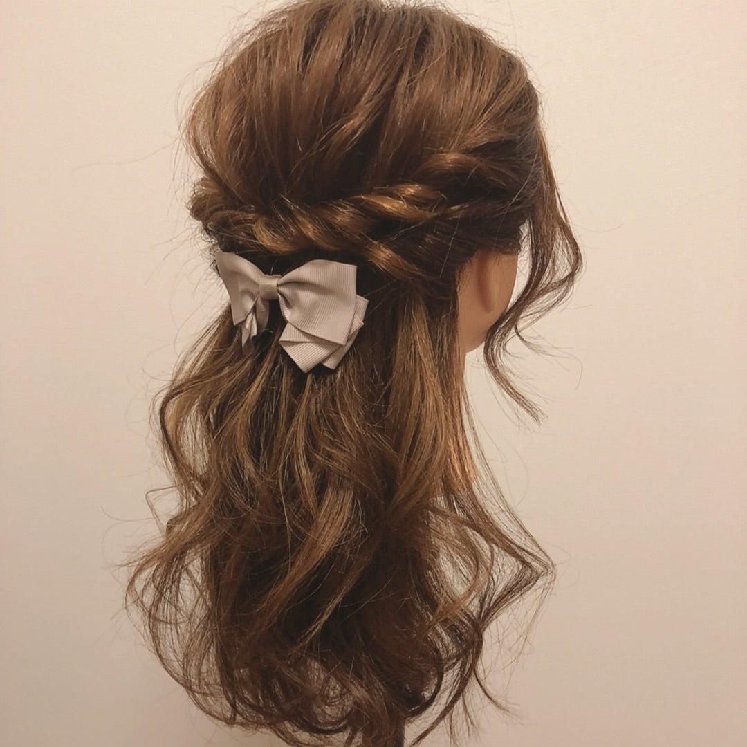 髪型,ハーフアップ,結婚式