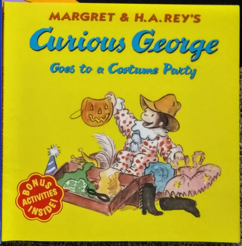 curious george goes to a costume a partyおさるのジョージ 英語の