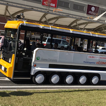 未来の自動運転バスの記事に添付されている画像