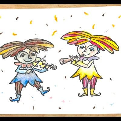 クレヨンで色ぬりの記事に添付されている画像