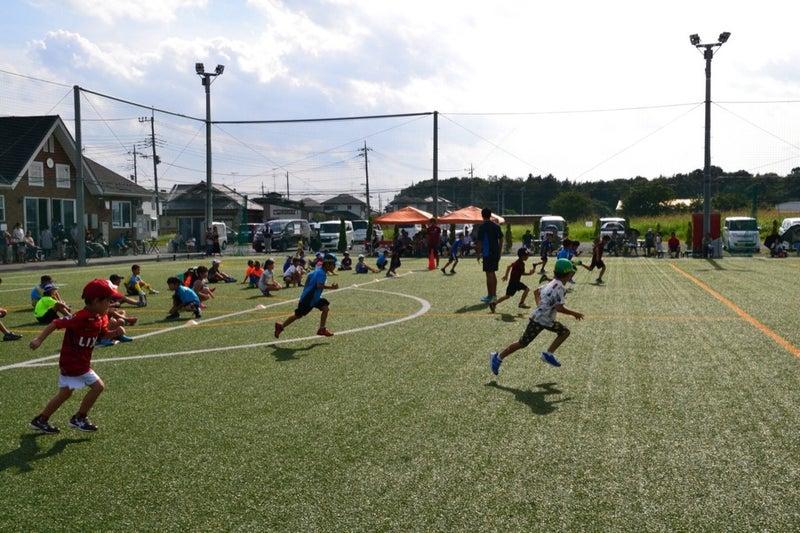 茨城県で行った、小学生のサッカーチームへのかけっこ教室(ボランティア)