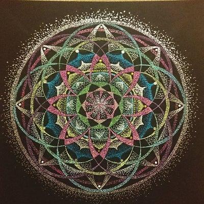 宙を奏でる点描曼荼羅画ファースト講座開催11/2の記事に添付されている画像