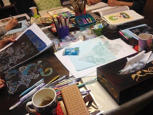 仏画教室点描仏画