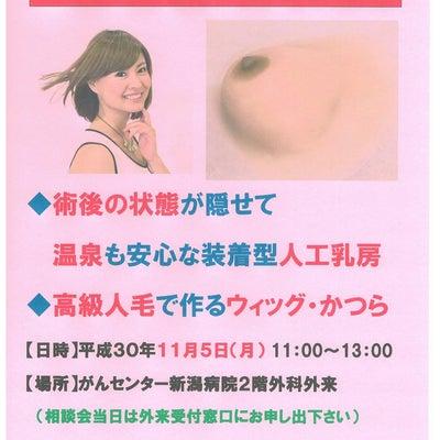 人工乳房相談会 30年11月5日 がんセンター新潟病院の記事に添付されている画像