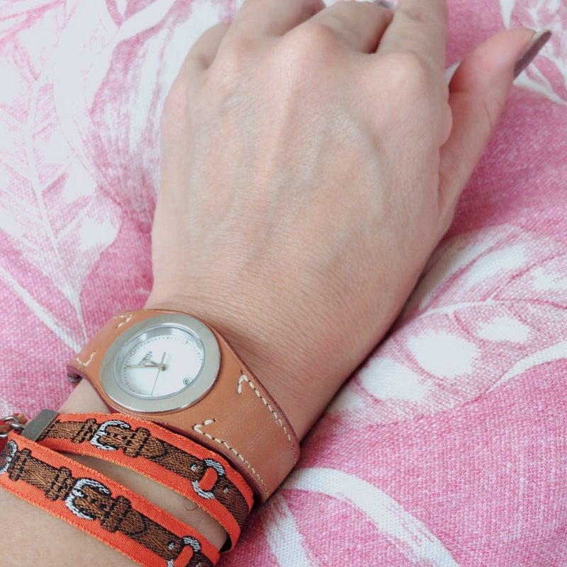 pretty nice 7a4c8 ac4f6 エルメス風ブレスレットとエルメスの時計を重ねづけ | おおの ...